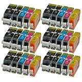 30 Patronen MIT CHIP und Füllstandanzeige für Canon Pixma iP4850, MG5150, MG5250, MG6150, MG8150 kompatibel mit PGI-525BK, CLI-526C, CLI-526M, CLI-526Y und CLI-526BK.