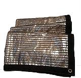 MWXFYWW Red de Papel de Aluminio 75% de Vela Parasol Utilizada para solárium, Techo, Patio, balcón, Red de Sombra, Red de protección Solar de tamaño Personalizado, 21 tamaños