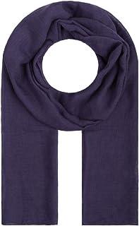 lang Unisex Schal gro/ß Violett-Marineblau Pashmina Karomuster