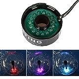 Yorbay Unterwasser RGB LED-Leuchten mit 4.8 Meter Stromkabel, für Tauchpumpe Springbrunnenpumpe...