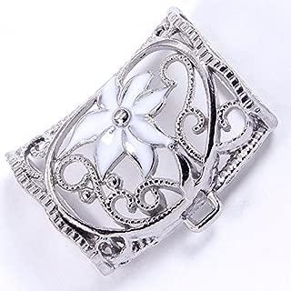PendantScarf Alloy Metal DIY Jewelry Pendant Scarf Slides Tube Bails White (Pack of 12)