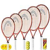 Raquette de Tennis HEAD Radical Junior 26 'avec 3 balles de Tennis Penn + Housse de Protection