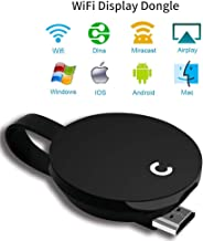 YEHUA Wireless Display Receiver Miracast WiFi Display Adapter Screen Mirroring Dongle Compatible Airplay Miracast DLNA for iOS Devices Android Smartphone Mac Windows8.1/10