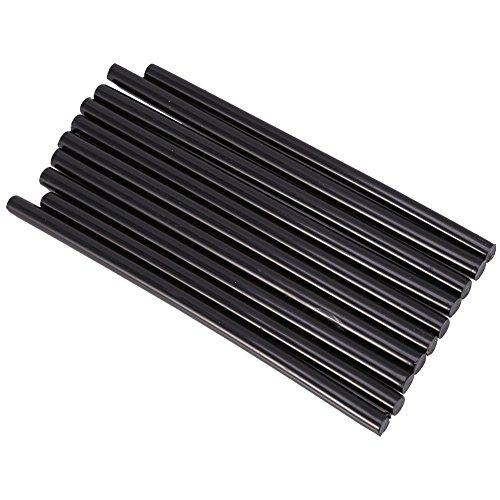 Barras de Pegamento Palillos de Pegamento Caliente, Paquete de 10 Unidades de Pegamento Termofusible Tamaño del Barras de Pegamento 7 x 150 mm(Black)
