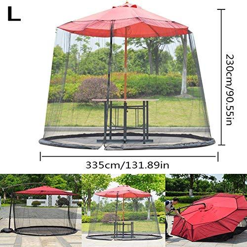 DSHUJC Parasol Mosquitera Tienda de Mosquitos, Liviana y portátil Sombrilla Mesa Pantalla Tienda de Malla Portátil para Patios al Aire Libre Gazebos