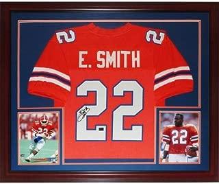 Emmitt Smith Autographed Florida Gators (Orange #22) Deluxe Framed Jersey - Smith Holo