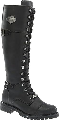 Harley Davidson femmes Beechwood noir Leather Long bottes 40 EU