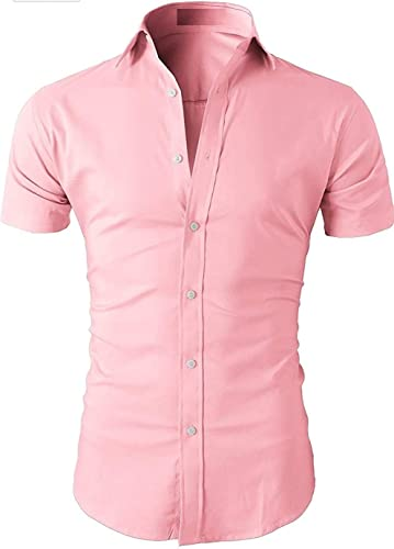 Hub Men s Regular Fit Casual Half Sleeve Shirt