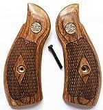 Gun Grip Supply Smith & Wesson S&W K/L Frame Grips Walnut Checkered Round Butt