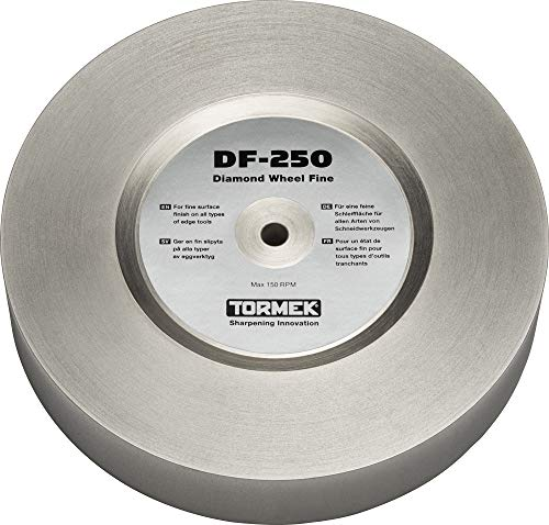 Tormek DF-250 Diamond Wheel Fine 600 Grit - The Ultimate All Round Wheel Combining Efficient Steel Removal with Smooth Surface Finish - Fits T-8 and T-7