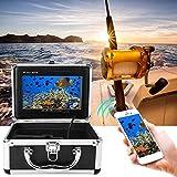Cámara de Pesca submarina, 20M 7 Pulgadas WiFi inalámbrico Cámara de Video de Pesca submarina Fish Finder 1000 TVL Monitor, para Pesca en Hielo, Lago y