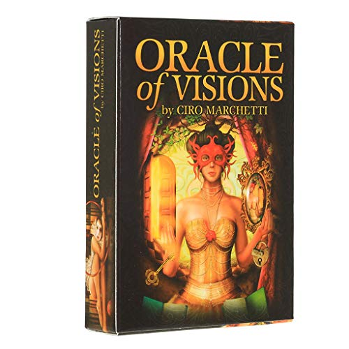 MSEKKO Carte à Jouer Oracle of Visions Full English 52 Carte