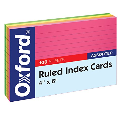Oxford Neon Index Cards, 4