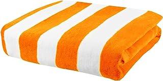 "Exclusivo Mezcla 100% Cotton Oversized Large Beach Towel,Pool Towel (Cabana Stripe,Orange 35""x70"")—Soft, Quick Dry, Lightw..."
