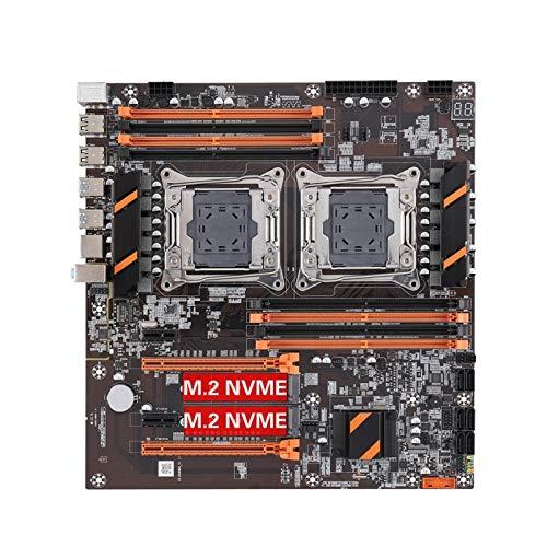 ALBBMY Tarjeta madre ATX para juegos Kllisre X99 Dual CPU Motherboard LGA 2011 V3 E-ATX USB3.0 SATA3 con doble procesador Xeon M.2 ranura para juegos