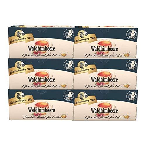 Goldmännchen-Tee Jumbo Waldhimbeere, 6er Pack