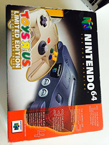 Nintendo 64 (TOYS R US) Limited Edition Gold Controller Edition Console System