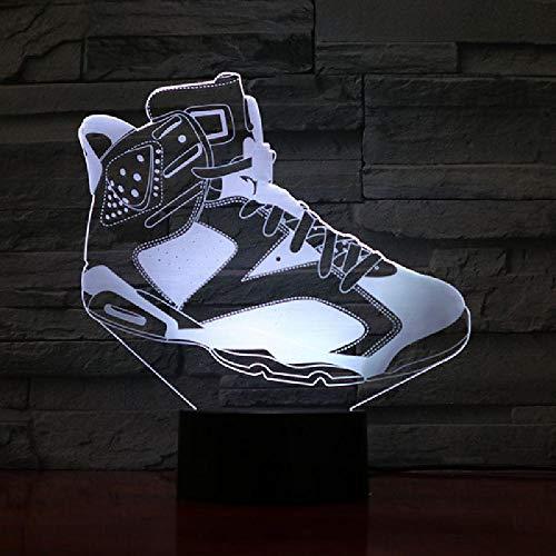 Basketball Schuhe Männer Nachtlicht Led 3D Illusion Dekor Rgb Jungen Kinder Baby Geschenke Tischlampe Nachttischesneakers