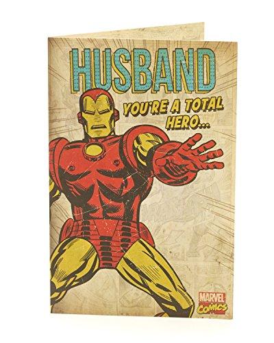 Hanson weiß 348148–0Marvel Avengers Iron Man Mann Geburtstagskarte