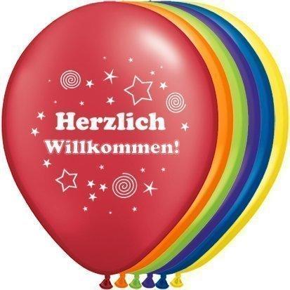partydiscount24 Luftballons Herzlich Willkommen Ø 30 cm 10 Stück