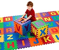 Unique patterned textured surface for sensory awareness and extra grip capabilities Soft, Safe, Protects floors & against trips and falls, CE Certificate Closed-cell (non-absorbing) EVA foam, Water resistant, Easy to clean and store Colourful & educa...