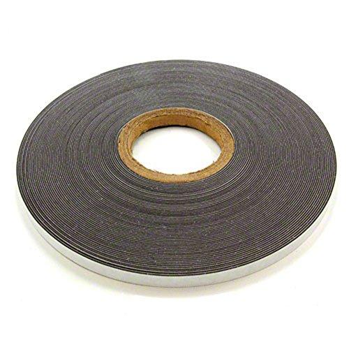 Magnet Expert® - Nastro in metallo ferroso con autoadesivo, bianco lucido, 12,7mm di larghezza x 1,3mm di spessore x 5m di lunghezza