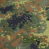 TOLKO Camouflage Stoff aus Baumwolle | Wasserdicht | Zelt- und Planen-Stoff Meterware | Robust und UV-beständig | im Armee Flecktarn der Bundeswehr | mittelschwer 160cm breit (Bundeswehr Zeltstoff)