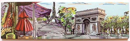 magnet aimant frigo MGG10 cuisine souvenir France Paris cadeaux Tour Eiffel 17X5cm