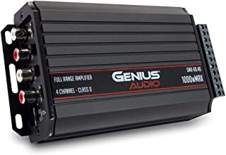 $131 » Genius Audio GMX-60.4D Mini Extreme Nano Compact Car Audio Amplifier 4 Channel 1000 Watts Max Class D 2-Ohm Stable with Po...
