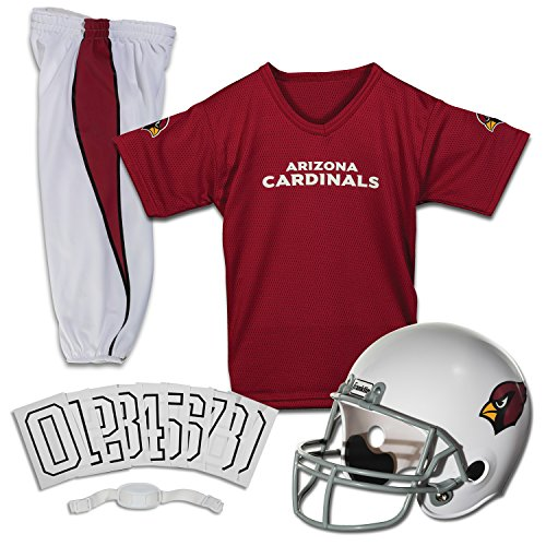 Franklin Sports Arizona Cardinals Kids Football Uniform Set - NFL Youth Football Costume for Boys & Girls - Set Includes Helmet, Jersey & Pants - Small