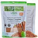 Certified Organic 1Lb/454G Pure Ceylon/True Cinnamon Powder (c.zeylanicum) No Added Sulphites (3 Packs of 152g)