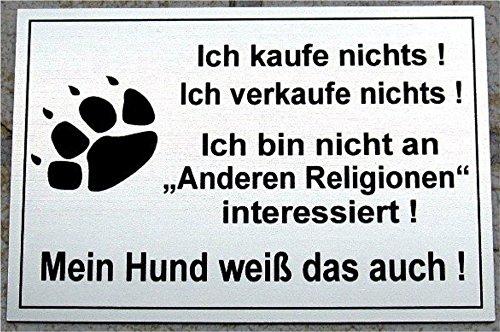 Gravola Warnschild Achtung Hund, Schild Hundeschild lustiges Schild