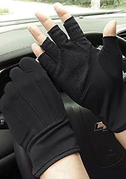 Lightweight Summer Fingerless Gloves Men Women UV Sun Protection Driving Cotton Gloves Antislip Breathable Touchscreen Gloves