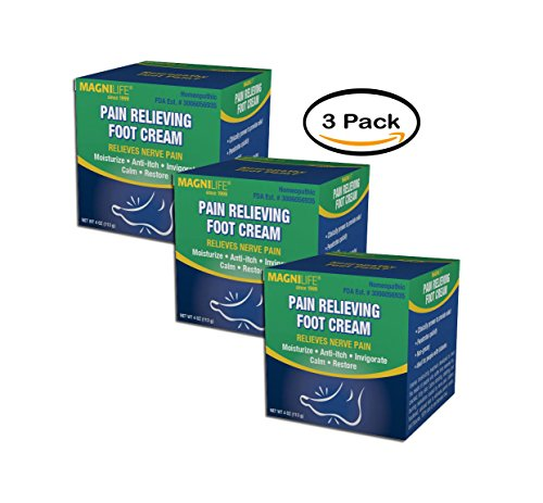 PACK OF 3 - MagniLife Pain Relieving Foot Cream, 4.0 OZ