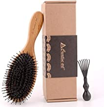 Asissia Wild Boar Bristles Hair Brush Set, Female Wild Boar Bristles for Boys, Reduce Frizz and Dryness and Restore Natural Luster