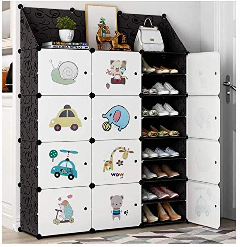 Ranura de calzado ajustable Organizador de zapatos Torre del organizador de almacenamiento de zapatos para zapatos, estantería de gabinetes modulares para ahorrar espacio, estantes de zapatos para zap
