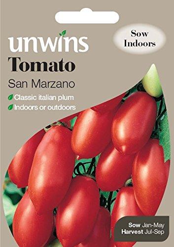Unwins générations des paquets – tomates San Marzano – 20 graines