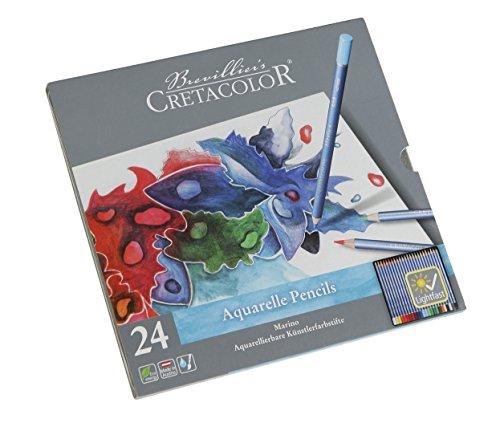 CRETACOLOR Marino - Lápices acuarelables para artistas, especialmente resistentes a la luz, 24 colores