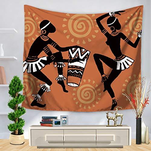 Tapiz De Pared,Feliz Baile Nacional Indio De Caracteres,Home Decoraciones Para Salón Multi Color Bohemio Hippie Indio Mandala Dormitorio Dormitorio Decoración Cortina Estera De Picnic,75X90Cm (