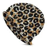 FATTTYCY Leopard Ocelot Slouchy Beanie Hat Winter Skull Cap for Men Women Gifts