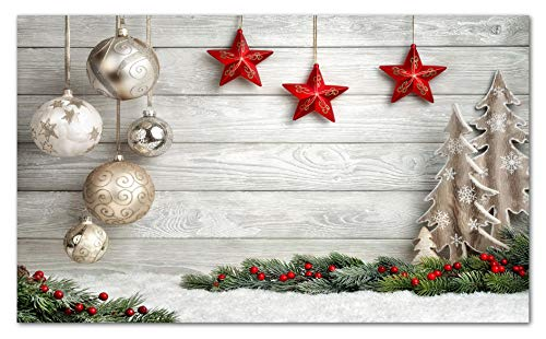 TAPPETIK Tappeto Natalizio, Passatoia in Stampa Digitale Natale Alta qualità, Ampia Gamma di Colori e Disegni (Serie Digit Natale) - Disegno Natale 14 (52x330 cm)