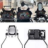Lasamot Soporte de navegación GPS para Motocicleta Soporte de Barra Frontal Soporte para GPS para teléfono móvil Soporte de Carga Apto para BMW F750GS F850GS