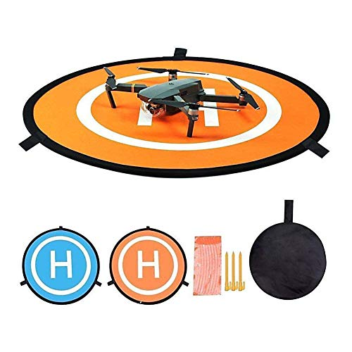 CYH Drone Landing Pad, 55CM/22'' Tragbare Faltbare Landing Pads, Drohnen Landeplatz, Universal Foldable Drohne Landeplatz für DJI Mavic 2 Pro /Zoom/Mavic Pro/Mavic Air 2/Spark /FIMI X8SE/Mavic Mini