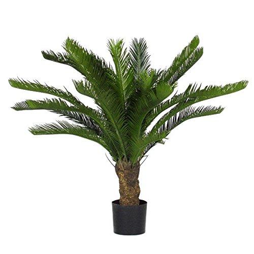 Cycus Cycas Palma Verde Pianta Finta Artificiale da Esterno - Resistente ai Raggi U.V. - Alta 100 cm - 24 Foglie