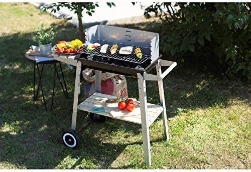 Livoo - Barbecue charbon finition bois DOC244