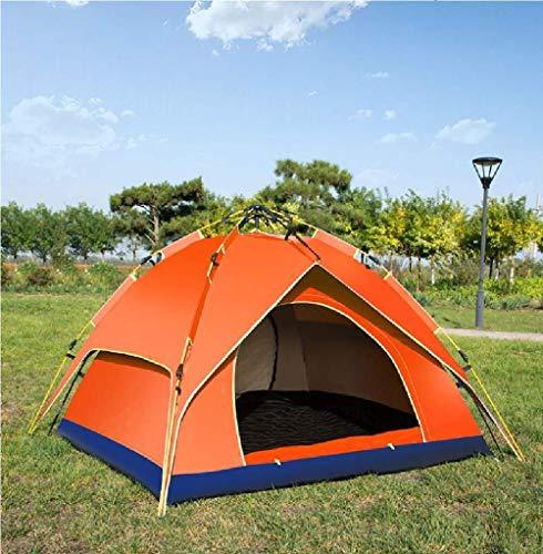TTOOY Tiendas de campaña Carpa de Camping Multiusos de Doble Capa automática para Exteriores 3-4 Personas Carpa de Apertura rápida a Prueba de Lluvia y Sombra de Mosquitos Salvaje