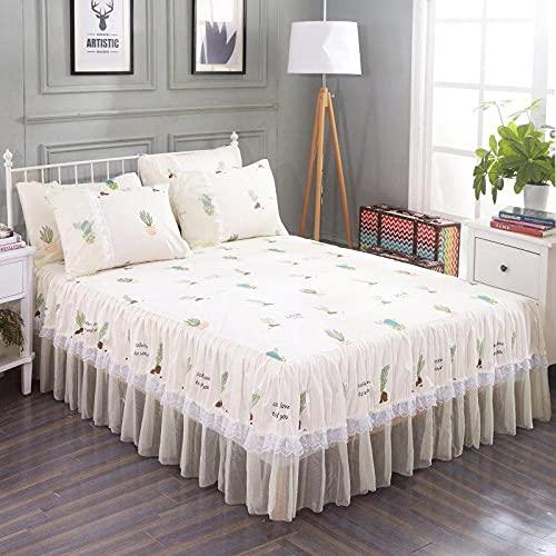 Liyingying Falda de Encaje Falda de Dibujos Animados, Familia y la Novia, la Mejor Ropa de Cama para Decorar el Dormitorio-3_120cmx200cm