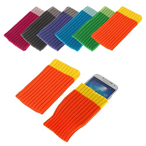 BRALEXX Universal Textil Socke passend für Energy Sistem Phone Pro Qi, Orange