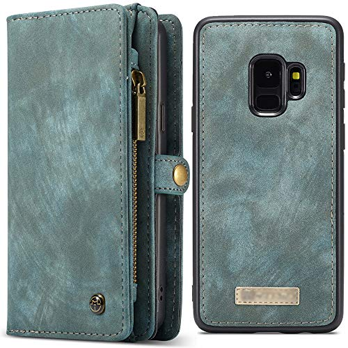 FLY HAWK Galaxy S9 Plus Leather Magnetic Card Holder