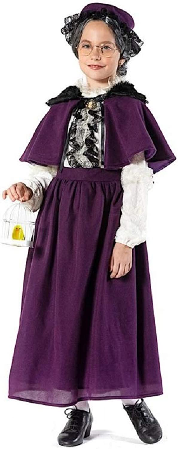 Fancy Me Italienisches 7-teiliges Mdchen-Kostüm Deluxe Old Lady Oma World Book Tag Woche Karneval Kostüm Outfit 4-10 Jahre